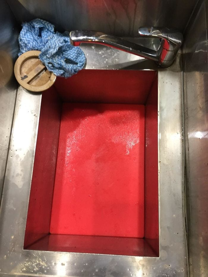 I Got The Chopping Board Stuck In The Sink At Work