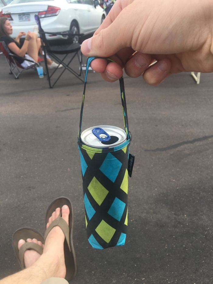 This Beer Inside An Umbrella Cover