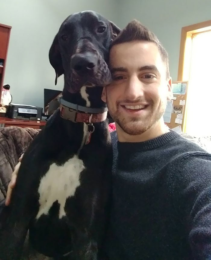 I Trained My Great Dane To Take Selfies With Me - If I