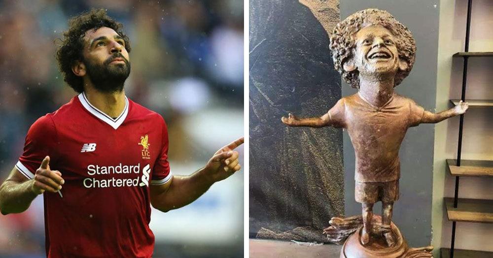 Египетский скульптор создал статую футболиста Мохаммеда Салаха, и она оказалась даже веселее, чем у Роналду