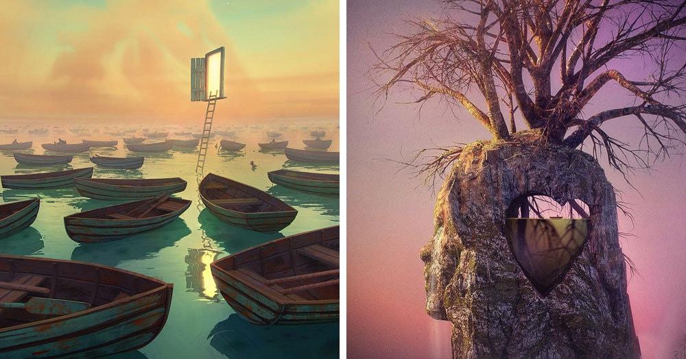 Художник из Литвы рисует фантазийные миры, в которых хочется потеряться