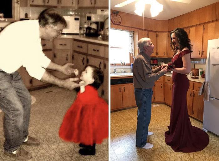 18 фотографий, на которых семьи повторили свои снимки из прошлого и на минутку вернулись в детство 2