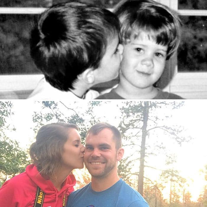 18 фотографий, на которых семьи повторили свои снимки из прошлого и на минутку вернулись в детство 8