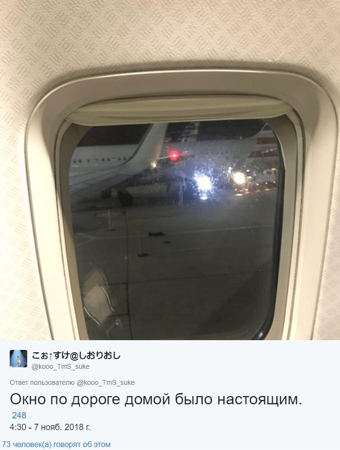Пассажир выбрал место у окна, но его там не оказалось. Стюардесса нашла остроумный выход из ситуации 4