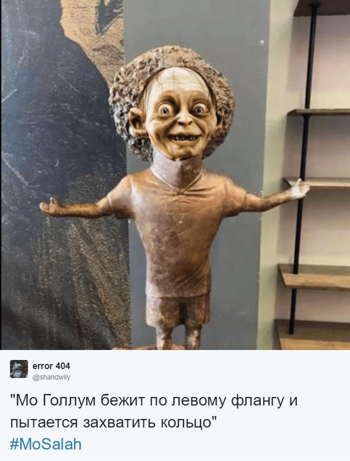 Египетский скульптор создал статую футболиста Мохаммеда Салаха, и она оказалась даже веселее, чем у Роналду 8