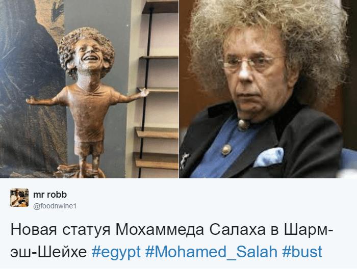 Египетский скульптор создал статую футболиста Мохаммеда Салаха, и она оказалась даже веселее, чем у Роналду 7