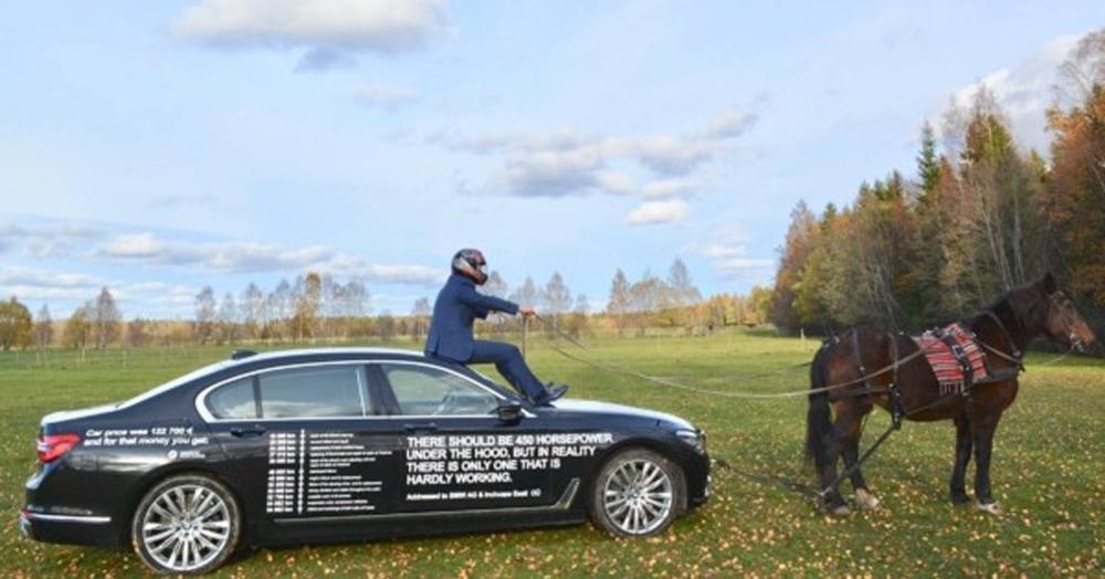 Эстонец купил BMW и два года её ремонтировал. А потом психанул и нанёс список всех поломок прямо на кузов