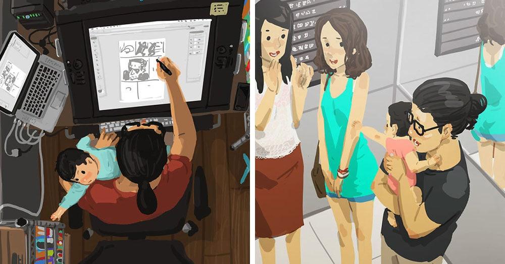 Отец-одиночка из Тайваня делает рисунки о жизни с сыном, и выглядят они душевнее любых фотографий