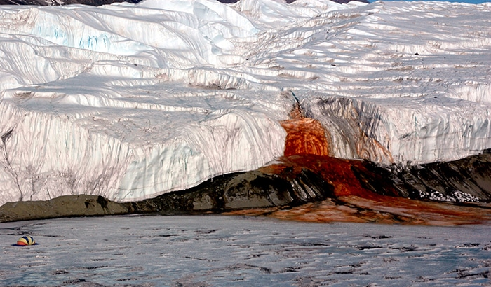 There Is A Waterfall In Antarctica Which Is Called Blood Falls