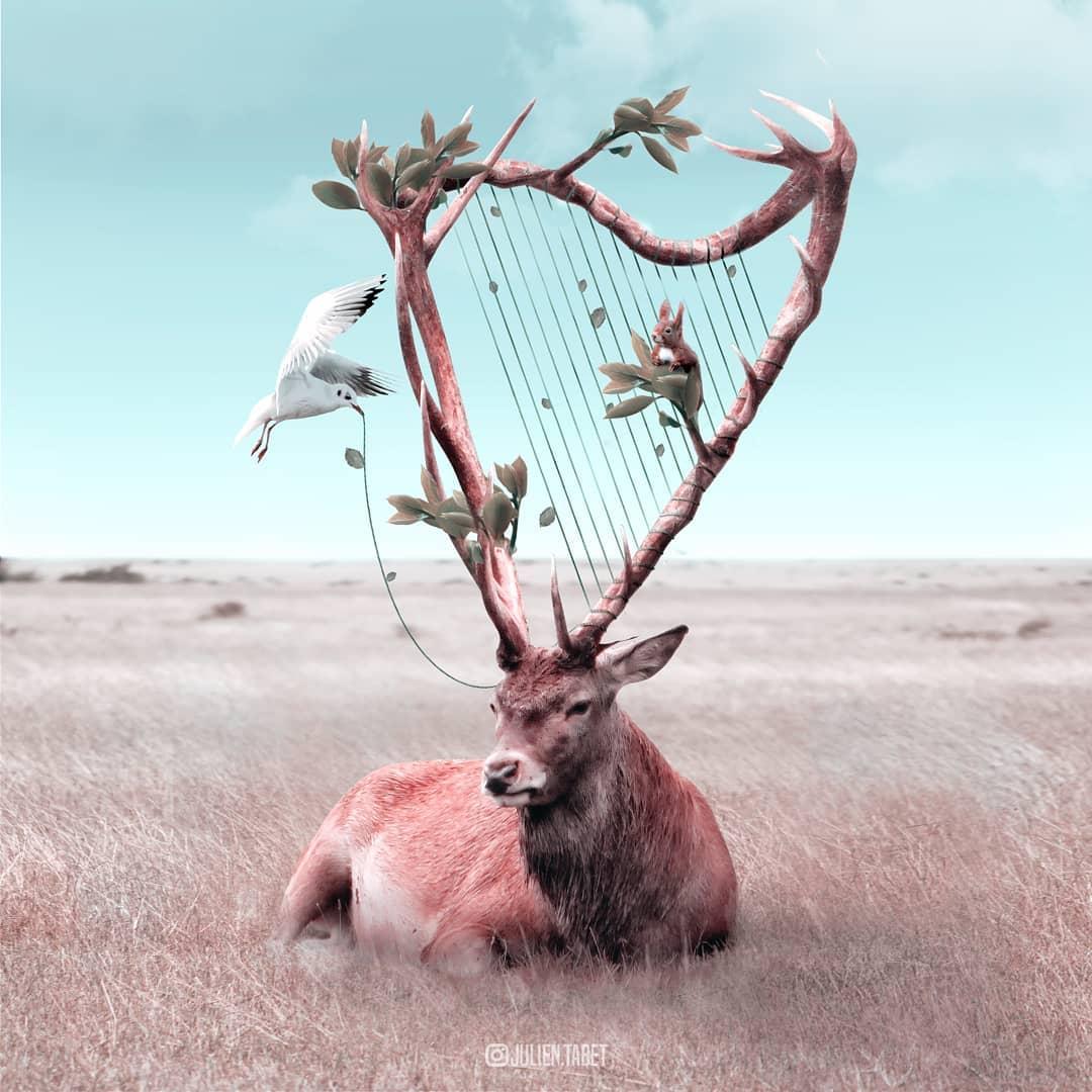 Цифровой художник из Франции изображает сюрреалистичных животных, которые будто пришли из наших снов 87