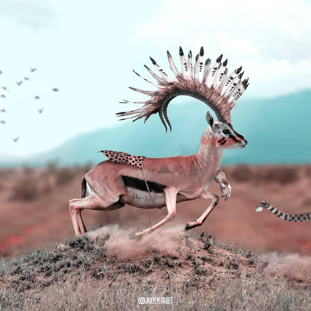 Цифровой художник из Франции изображает сюрреалистичных животных, которые будто пришли из наших снов 96