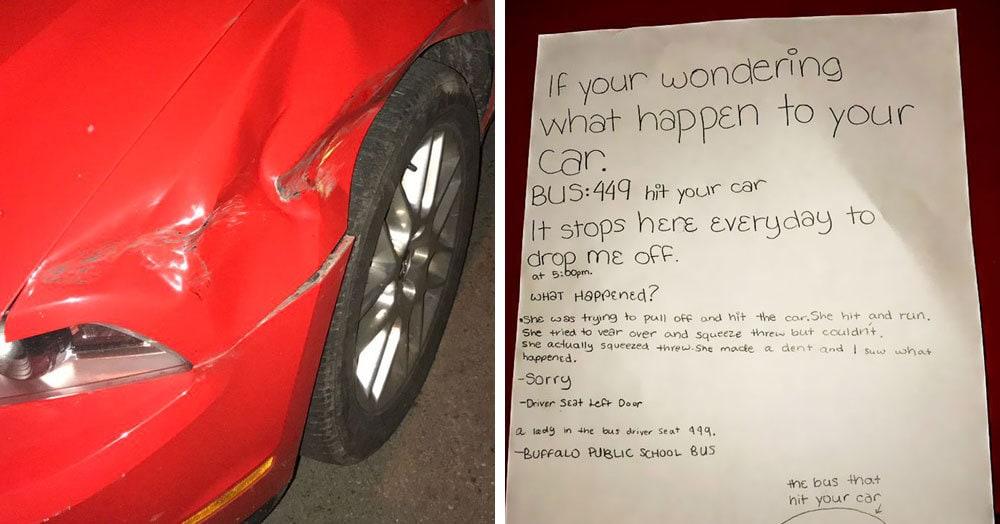 Кто-то оставил вмятину на припаркованной машине и скрылся. Найти виновника помогла шестиклассница