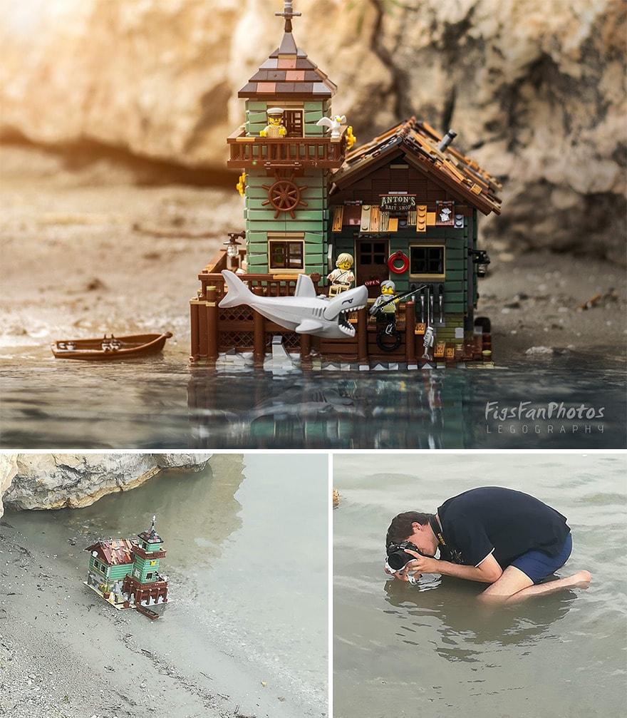 Фотограф снимает игрушки Lego и сам создаёт для них спецэффекты. И вот как выглядят его работы до и после 106
