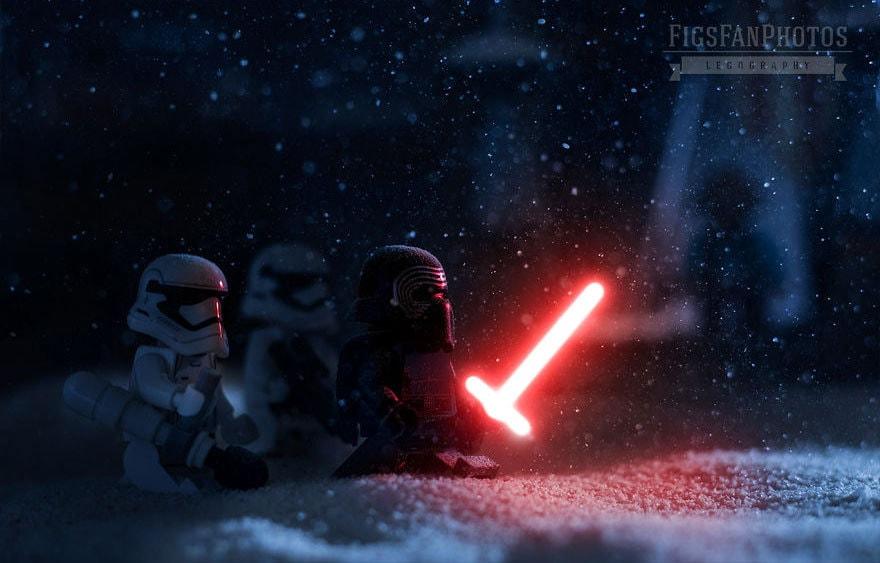 Фотограф снимает игрушки Lego и сам создаёт для них спецэффекты. И вот как выглядят его работы до и после 116