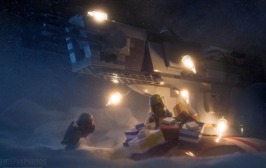 Фотограф снимает игрушки Lego и сам создаёт для них спецэффекты. И вот как выглядят его работы до и после 120