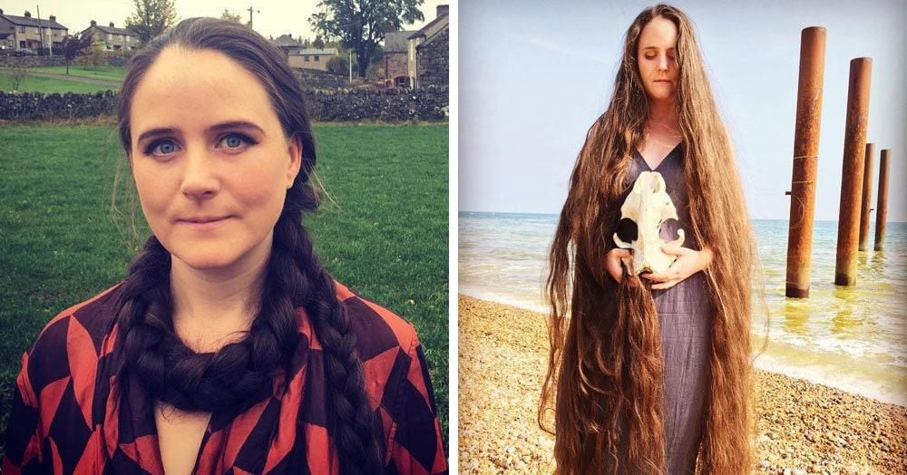 Британская «Рапунцель» вот уже 20 лет не моет свои волосы и утверждает, что ухаживать за ними проще простого