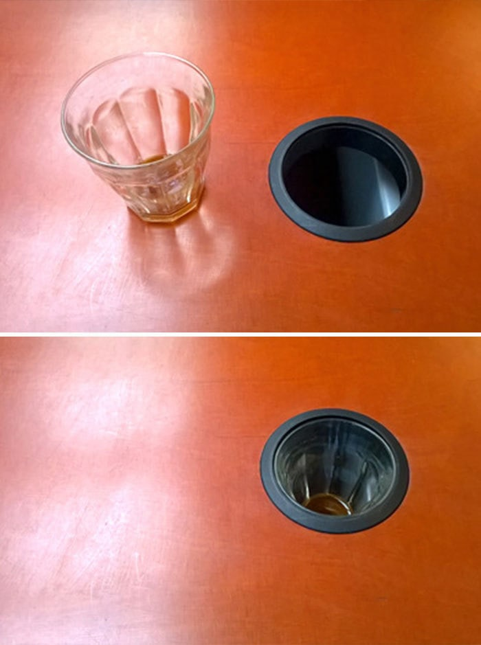 This Glass And A Desk Hole