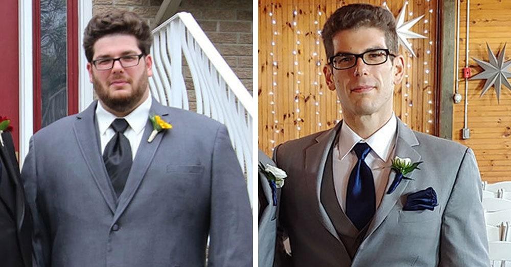 Мужчина так располнел, что не смог обуться без табуретки. Тогда он взял себя в руки и похудел на 68 кг