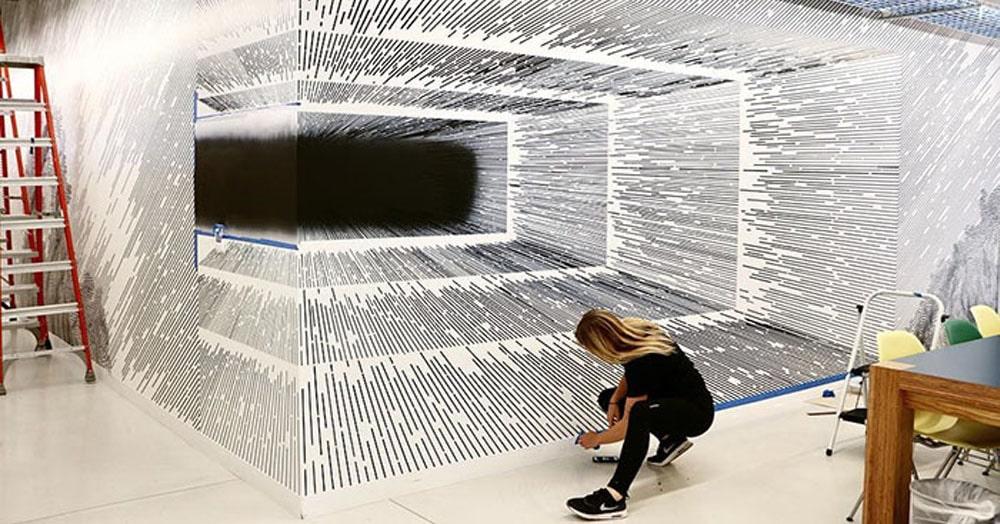 Художница создает поразительные оптические иллюзии, а все потому, что она — математик