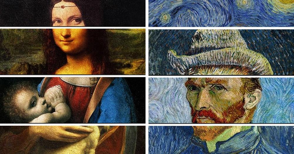 Дизайнер наглядно показал уникальность стилей легендарных художников, объединив 4 их картины в одну