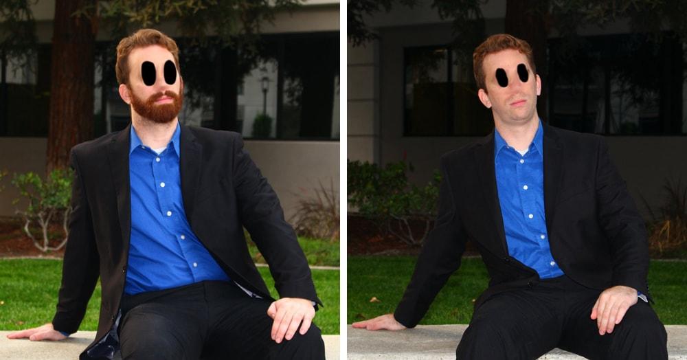 Парень решил узнать, как ему лучше: с бородой или без. И провёл для этого любопытный тест в Tinder