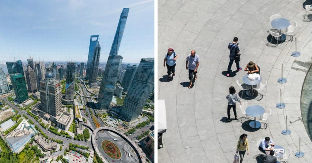 В сети появился панорамный снимок Шанхая с ТАКИМ зумом, что видны выражения лиц горожан и их еда