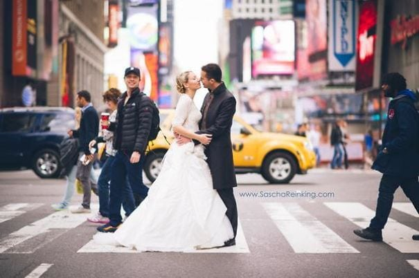 Zach Braff, I Think You Photobombed My Newlywed Couple The Other Day In New York. Well Played