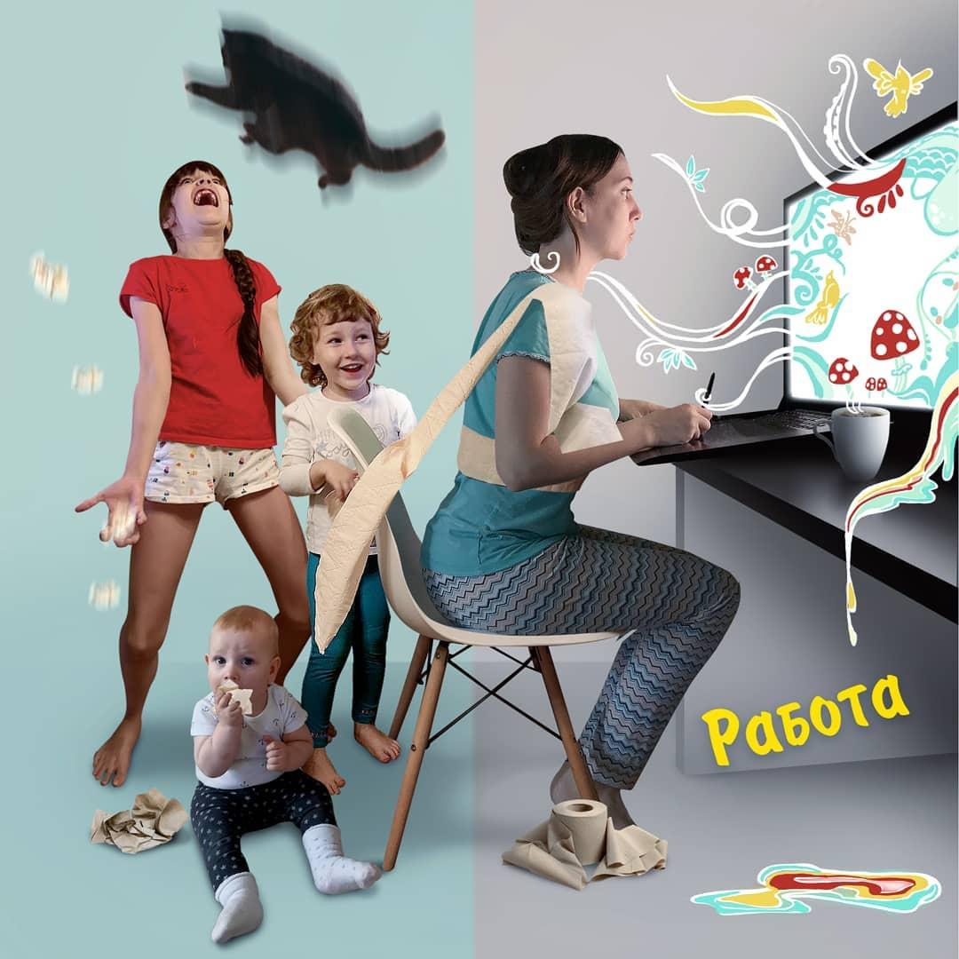 Многодетная мама из Москвы рисует комиксы о своей жизни, и эти ситуации знакомы каждому родителю 5