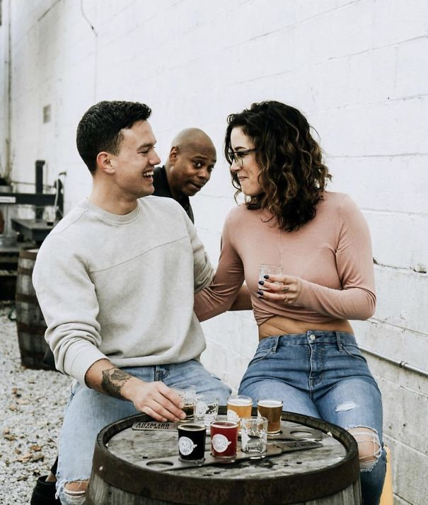 Had Our Engagement Photos Photobombed By Dave Chappelle