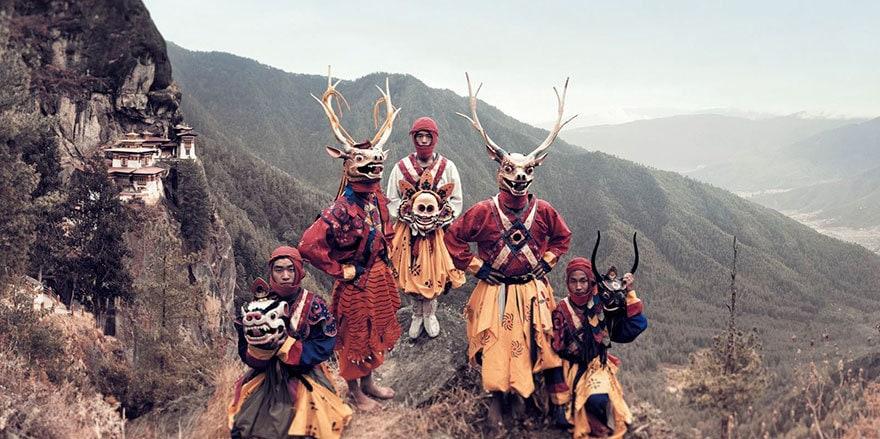 Mask Dancers, Paro, Bhutan