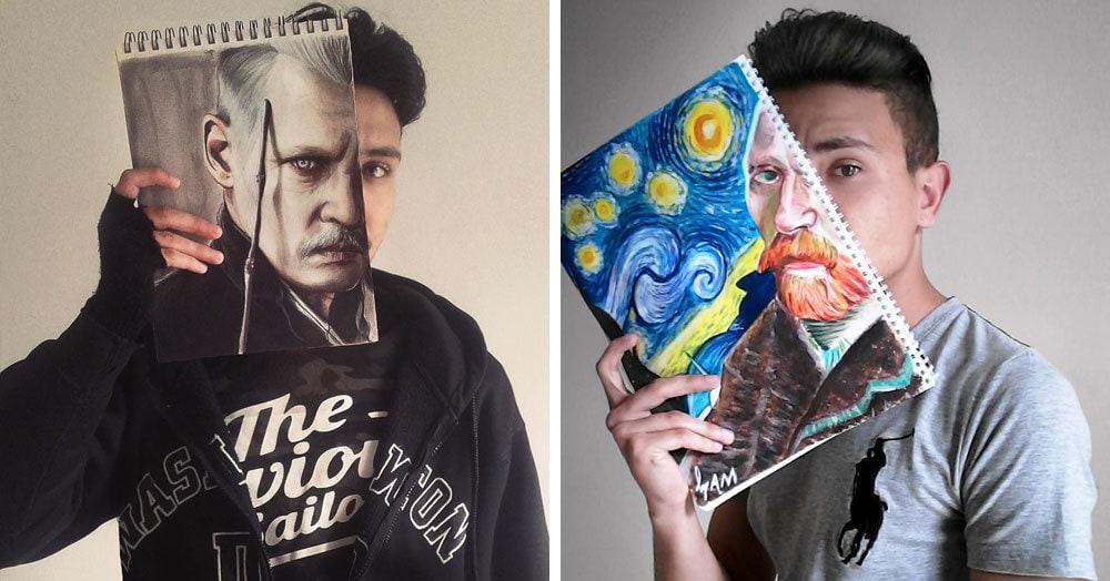«Лицом к лицу с мечтой» — проект молодого художника, который объединился с известными персонажами