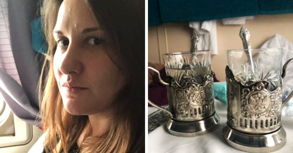 Британка едет на поезде Москва-Пекин и делится впечатлениями о подстаканниках, проводниках и морозах