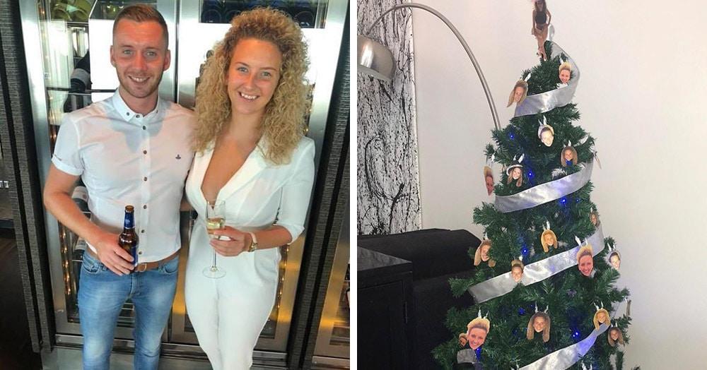 Парню было лень купить новогодние шары. Девушка решила его проучить и сделала свою укоряющую ёлку