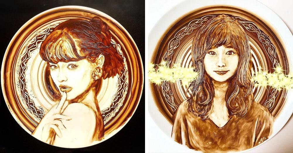 Эта японка из Инстаграма делает больно всем сладкоежкам — она не ест шоколад, а рисует им на тарелке
