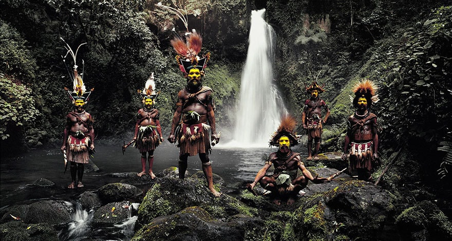Huli Wigmen, Ambua Falls, Tari Valley, Papua New Guinea
