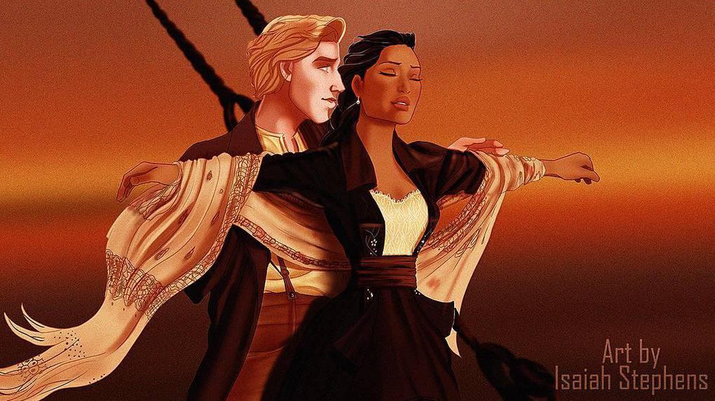 Художник представил, как смотрелись бы герои диснеевских мультиков в популярных сценах Титаника 14