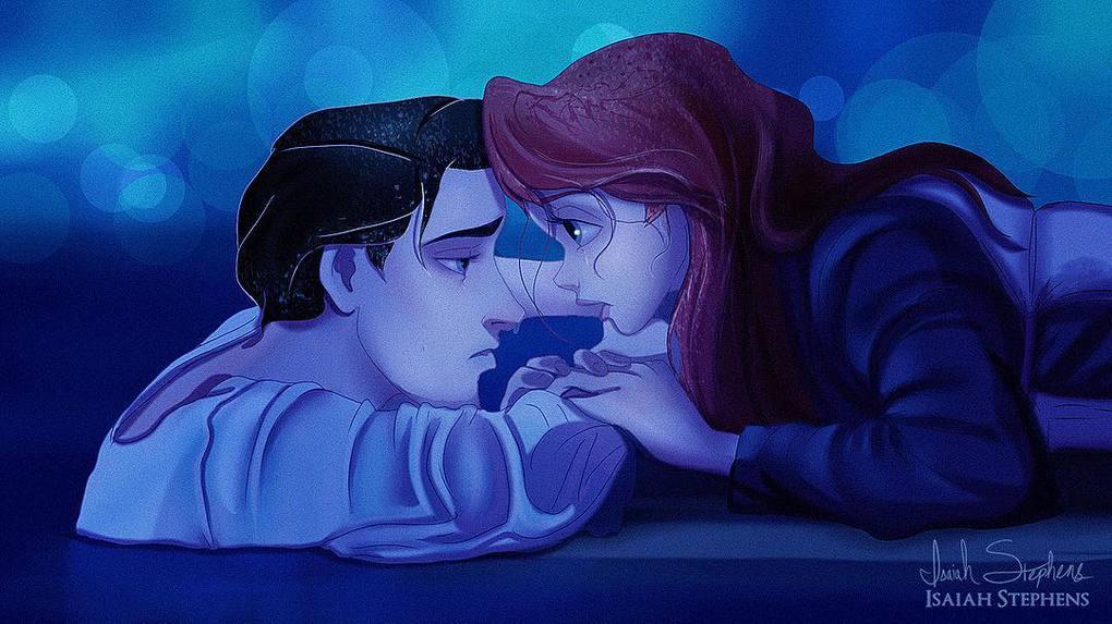 Художник представил, как смотрелись бы герои диснеевских мультиков в популярных сценах Титаника 12
