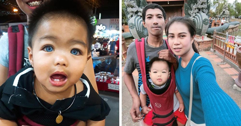 Малыш из Таиланда ещё не говорит, а уже завоевал сотни поклонников. Всё дело в необычном цвете глаз