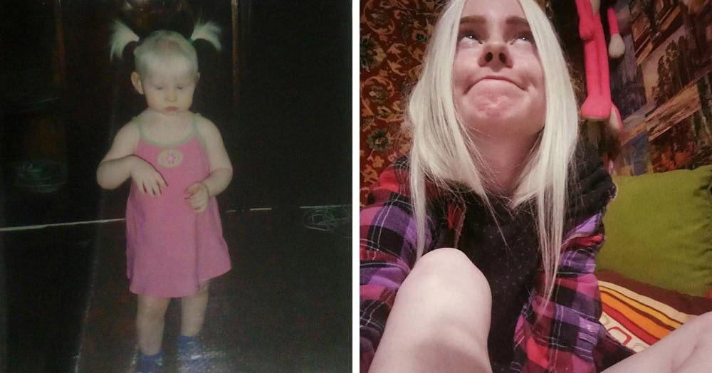Люди делятся своими детскими фото и сравнивают, как они выглядели тогда и сейчас