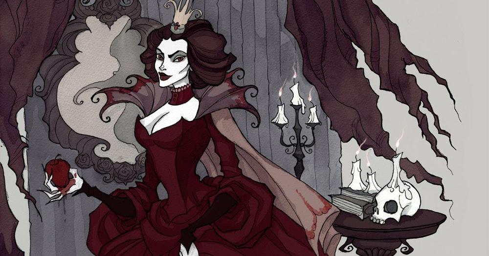 Художница изобразила принцесс и злодеек Диснея в готическом стиле. Получилось мрачно, но волшебно