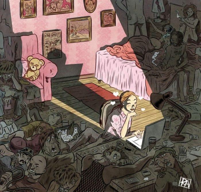 Испанский иллюстратор рисует жизненные карикатуры и вытаскивает наружу всё, что мы не хотим видеть 2