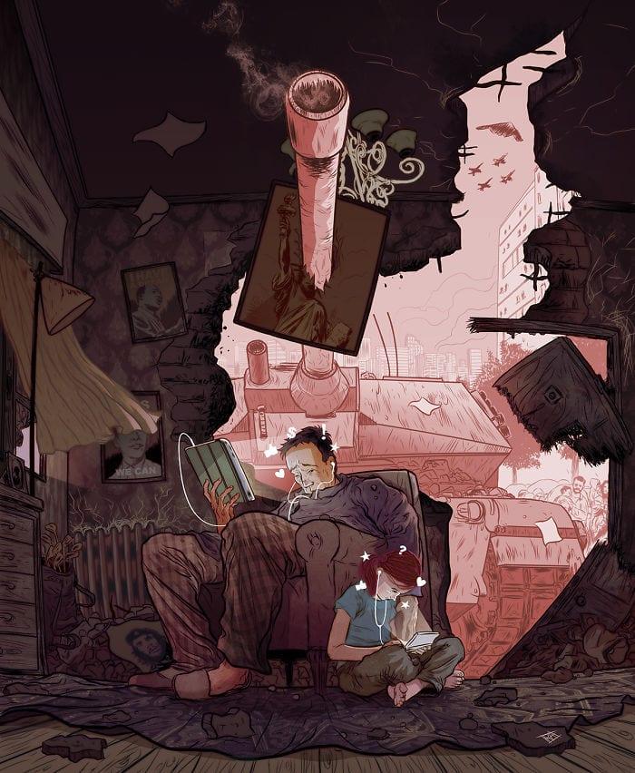 Испанский иллюстратор рисует жизненные карикатуры и вытаскивает наружу всё, что мы не хотим видеть 7