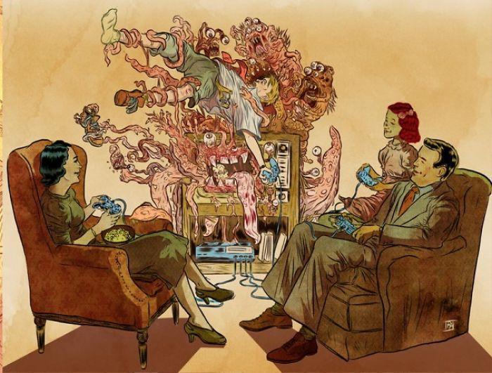 Испанский иллюстратор рисует жизненные карикатуры и вытаскивает наружу всё, что мы не хотим видеть 3