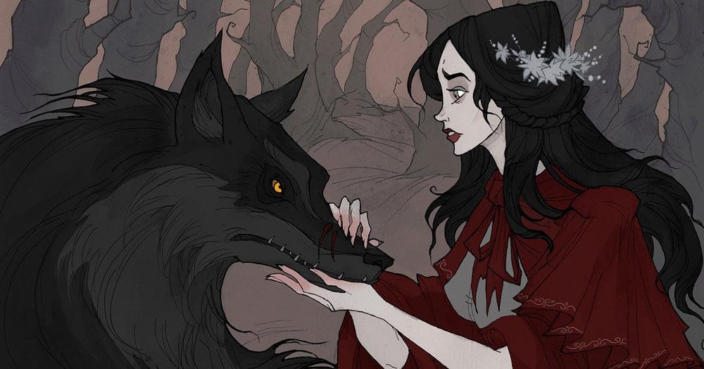 Богиня готической иллюстрации нарисовала героев сказок братьев Гримм. Они полны тёмного очарования