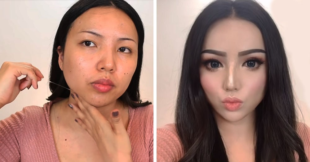 Блогер показала, как изменить форму лица без операции и смс. Нужен скотч, воск и немного технологий