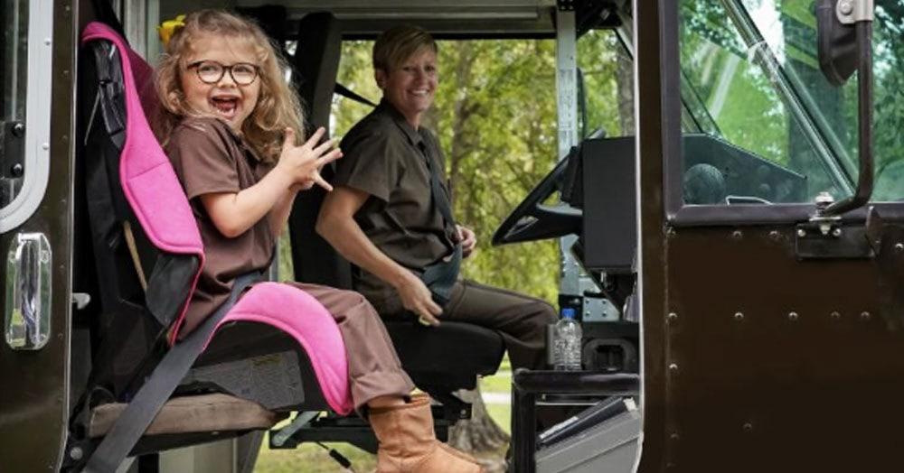 Шестилетняя девочка мечтала работать в службе доставки. Её желание исполнили и даже машину подарили
