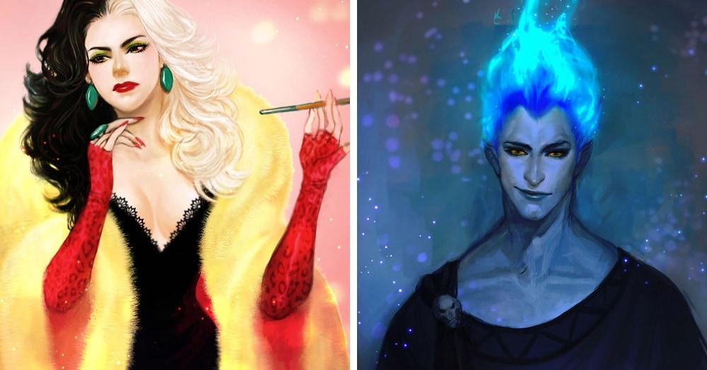 Художник представил, как выглядели бы злодеи Диснея, будь они главными положительными героями