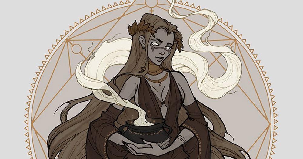Мастер готической иллюстрации показала, как выглядели бы знаки Зодиака, будь они тёмными ведьмами