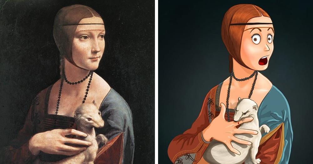 Художница из Перми показала, что могло происходить «за кадром» известных картин