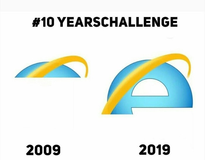 Internet explorer 10 years challenge